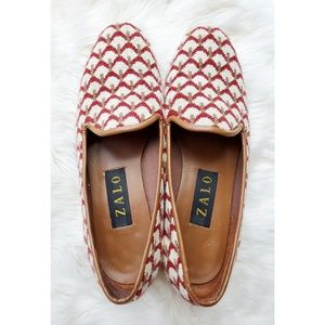 Zalo embroidered pattern loafers flats blogger
